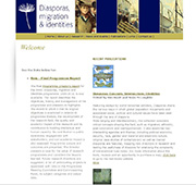 Diasporas website screen shot